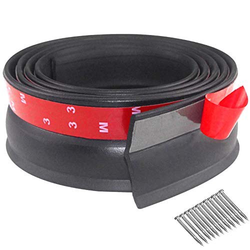Garage Door Seal Top and Sides Weatherproofing Garage Door Rubber Seals Garage Door Side Seal Universal Weather Stripping with Nails (20 Ft)