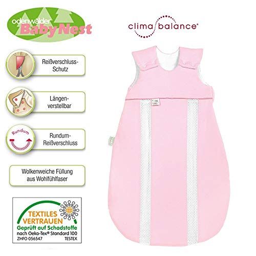 Odenwälder BabyNest® Schlafsack Primaklima 130 cm Jersey 3-6 Jahre, Idealer Allrounder mit integrierten Klimazonen