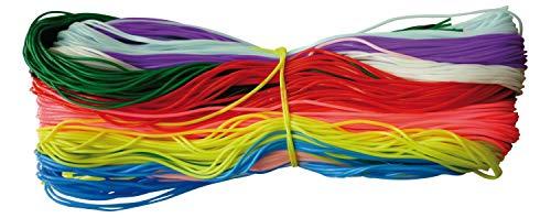 PW International–sacchetto di 250fili per scoubidou, 25x 10colori, senza ftalati