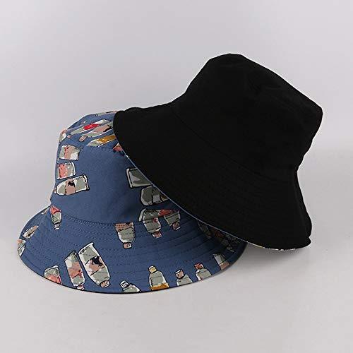 Yunbai Sombrero del sombrero del cubo Pescador sombrero del algodón del sombrero al aire libre Mujer Cap de pesca deportiva sombrero del sol del sombrero de Hip Hop cuenca del sombrero del visera, Bot