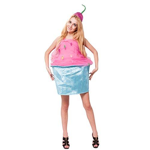 EraSpooky Damen Lustige Kuchen Halloween Kostüm mit Hut