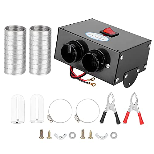 Calefactor 500w Calentador De Coche De Coche Completo Automático Completo Purificadora Porfuerte De Aire Defrost De Defrente De Defropter 12v