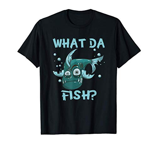 What da Fish lustig guckende Fische Was zum Fisch Angler T-Shirt
