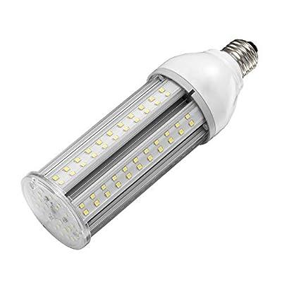 24W LED Corn Light Bulb E26 Medium Screw Base, 5000K Daylight 75-100w HPS Metal Halide HID Lamp LED Replacement for Garage Street and Area Light Patio Backyard Basement Barn Workshop Post Top