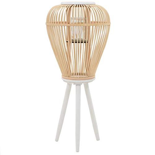 vidaXL Portavelas de Pie Bambú Natural Fragancias Decoración para Casa Hogar