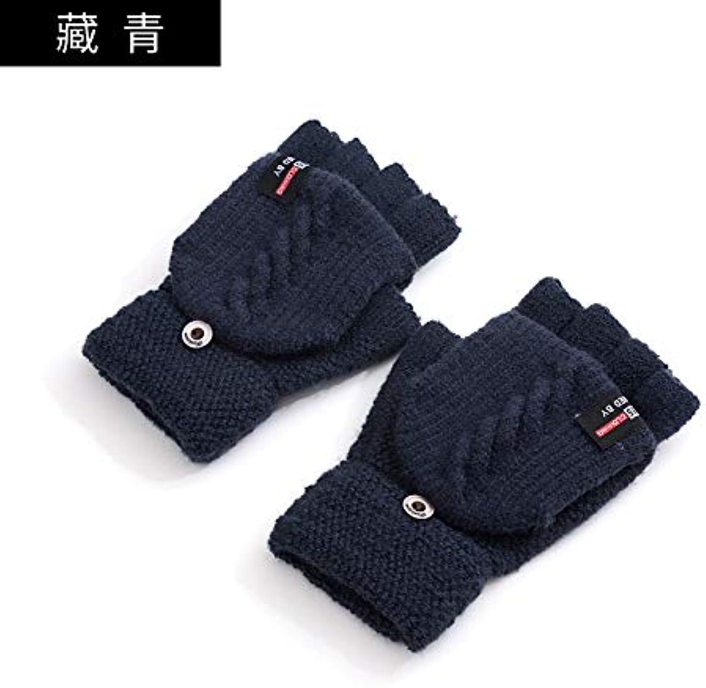 LybGloves Handschuhe Wolle Wolle Wolle Männer Strickpunkte doppelt dick Touchscreen warme Radfahren schreiben, alle Werften, 3109 Navy B07JZ6JCW4  Förderung 1d260d