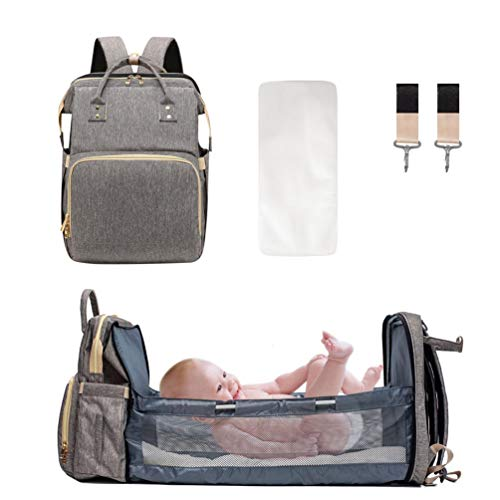 DREAMSOULE 3 in 1 Extendable Baby Diaper Backpack,Lightweight Baby Nappy...