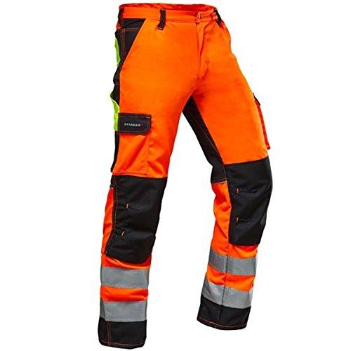 Pfanner Warnschutz Bundhose Stretchzone EN20471, Größe:52, Farbe:orange/schwarz