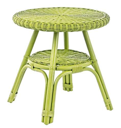 PEGANE Table Basse Coloris Vert - Dim : Ø 52 x H 52 cm
