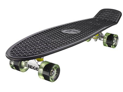 Ridge Skateboard Big Brother Nickel 69 cm Mini Cruiser, schwarz /klar grün