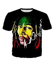 UBUB Rapper Bob Marley T-Shirt Man/Vrouwelijk 3D Bob Marley Gedrukt T-Shirt Casual Street Top In Harajuku Stijl