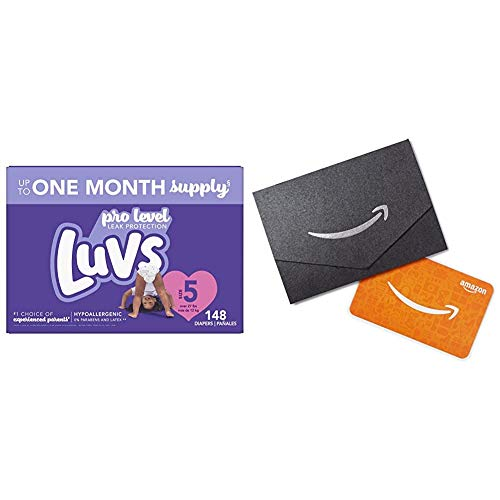 Luvs Pro Level Leak Protection Diapers - Size 5 148 Count + $10 Amazon.com Gift Card