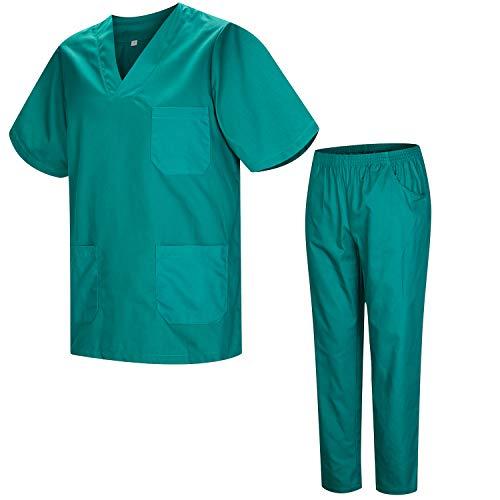 MISEMIYA - Uniformi Unisex Set Camice ? Uniforme Medica con Maglia e Pantaloni Uniformi Mediche Camice Uniformi sanitarie - Ref.8178 - Medium, Verde