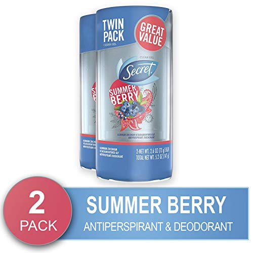 Secret Antiperspirant and Deodorant for Women, Fresh Clear Gel, Summer Berry Scent, 2.6 Ounce (Pack...