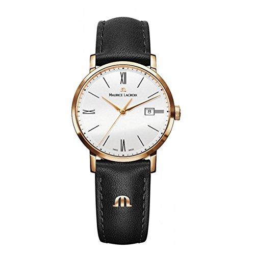 Maurice Lacroix Damen Analog Quarz Uhr mit Leder Armband EL1084-PVP01-112-1