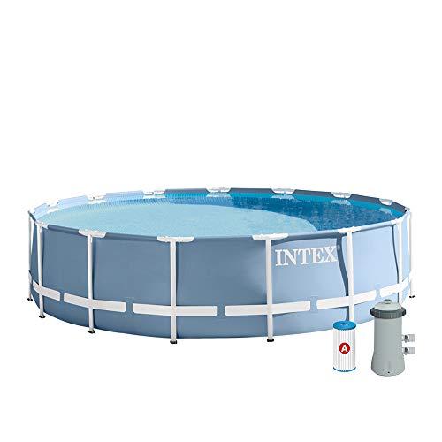 Intex–Poolumrandung Prisma Frame Mit Kläranlage 457 x 107 hellblau