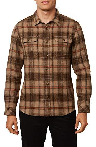 O'Neill Herren Flanellhemd Standard Fit Long Sleeve Button Down -  Braun -  Mittel