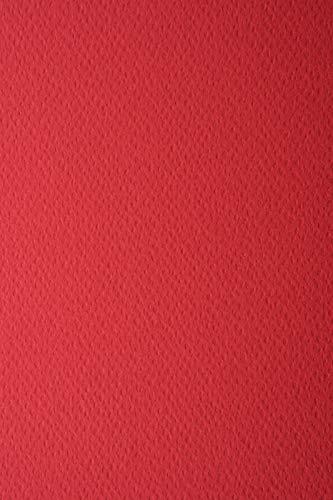 10 Blatt Dunkel-Rot 220g Tonkarton einseitig strukturiert DIN A4 210x297 mm Prisma Rubino Präge-Karton bunt Strukturkarton durchgefärbt Foto-Karton mit Struktur bunt A4