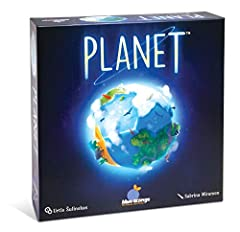 STRATEGY TABLETOP BOARD GAME: Planet is an environmental drafting board game featuring unique 3D planet cores, for science and nature enthusiasts. This best-selling board game has an amazing table presence with magnetic globes and high-quality compon...