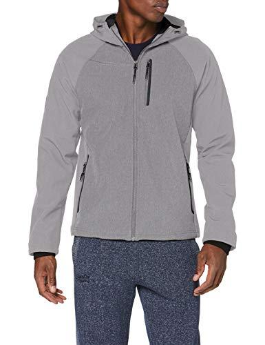 Superdry Herren Hooded Softshell Jacke, Grau (Light Grey Marl 41Q), Large