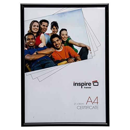 Inspire BACKLOADER Negro A4 21x30 cm Certificado Foto Marco Calidad Vidrio Imagen Apertura BLRA4BK