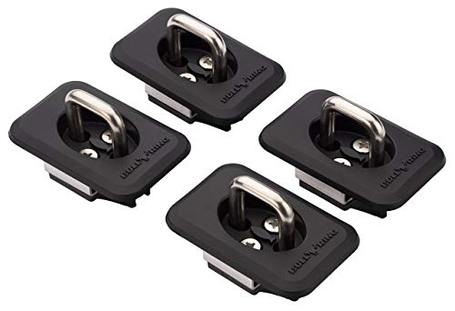 Bull Ring Raised Fit Retractable Tie-Down Anchors (2 Pair) | '98-14 Ford F150 and '98-16 Ford Super Duty | '99-13 Chevrolet Silverado and GMC Sierra | '95-20 Dodge RAM