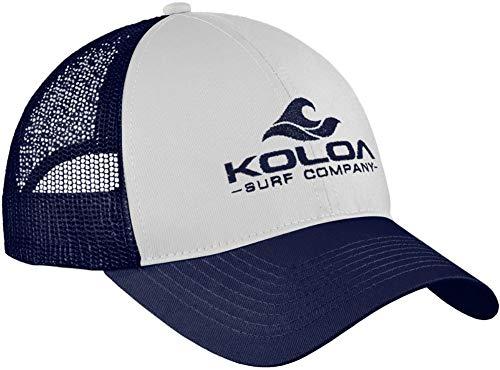 Koloa Surf Wave Classics Retro Trucker Cap - Mesh Snapback Hat-RedWhiteRed/r