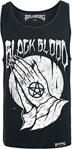 Black Blood Praying Hands Homme Débardeur Noir L, 100% Coton, Regular/Coupe Standard