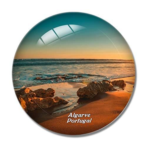 Imán para nevera 3D de Portugal, Albuzala Algarve, para pizarra, cristal de recuerdo