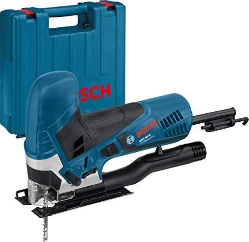 Bosch Professional Stichsäge GST 90 E (650 Watt, Schnitttiefe in Holz: 90 mm, inkl. 1x Sägeblatt, Spanreißschutz, im Koffer)