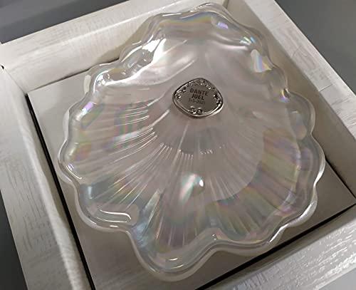 Concha bautizo de cristal nacarado PERSONALIZADA, grabada con laser NOMBRE Y FECHA....