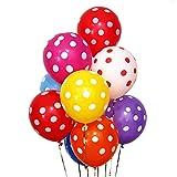 Globos de látex de lunares de 12 pulgadas, utilizados para fiestas infantiles, cumpleaños, bodas, fiestas de Pascua, fiestas de carnaval.