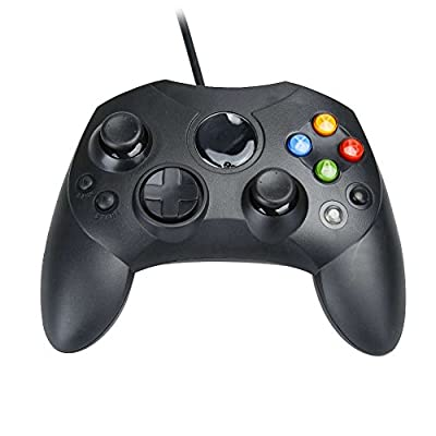 Assecure Compatible Original Black Xbox Slim S Type Wired Controller Gamepad