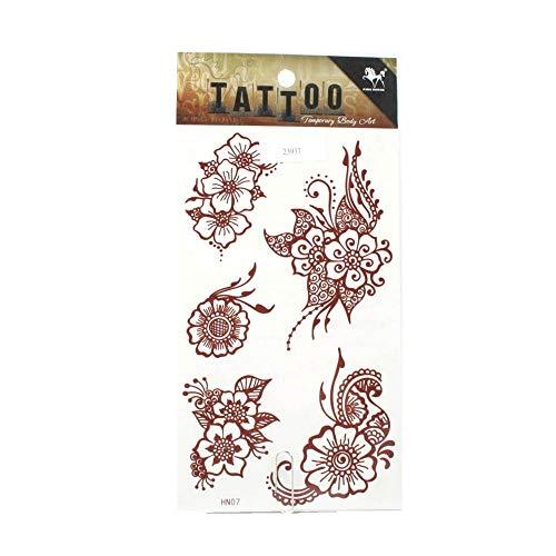 Tattoo verzierte Hibiskus-Blüten in braun