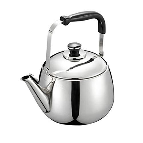 LCFF Pot En Acier Inoxydable 304 À Théière Grande Capacité Avec Sifflet En Acier Inoxydable, Adapté À Tous Types De Cuisinières (taille : 5L)