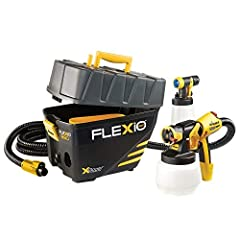 PERFECT FOR A VARIETY OF PROJECTS: The FlexiO 890 paint sprayer is great for applying a superior finish on furniture, walls, ceilings, cabinets, trim and more PORTABLE PAINT SYSTEM: The turbine sits on the ground, keeping the weight on the floor and ...