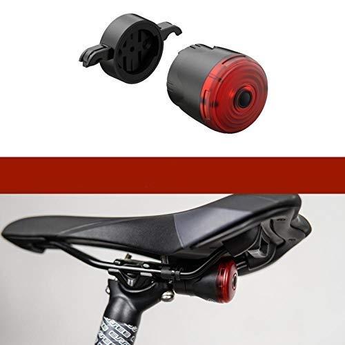 Fahrradblinker Smart Led Fahrrad Licht Hinten Hinten Straße Bremslicht Signal USB Wiederaufladbare Rote Fahrradlampe Latern Flash Rücklicht Für Fahrrad-Sattelhalterung