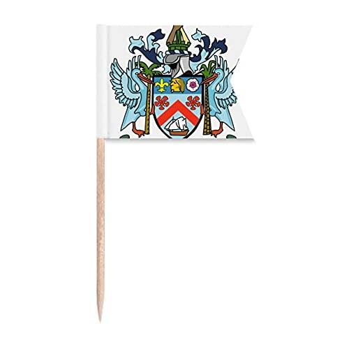 Kitts and Nevis Nationalemblem Zahnstocher Flaggen Markierung für Party Kuchen Lebensmittel Käseplatte