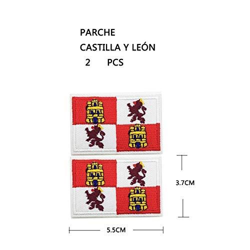 BANDERA DEL PARCHE BORDADO PARA PLANCHAR O COSER (CASTILLA Y LEON) (CASTILLA Y LEON -2)