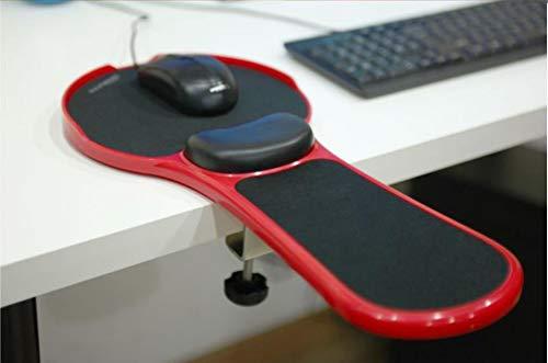 HANHAN - Cojín para reposabrazos de escritorio y silla, soporte para ratón, soporte para reposabrazos, almohadilla de reposamuñecas, suave, duradero, soporte de brazo de rotación