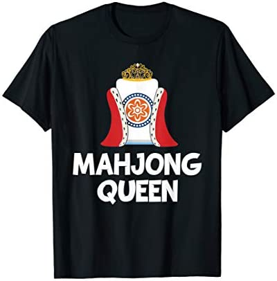 Funny Mahjong Queen Tee China Game Gifts For Girls Women T Shirt product image