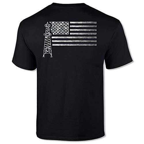 Oilfield Worker American Flag Roughneck Short Sleeve Tee Shirt
