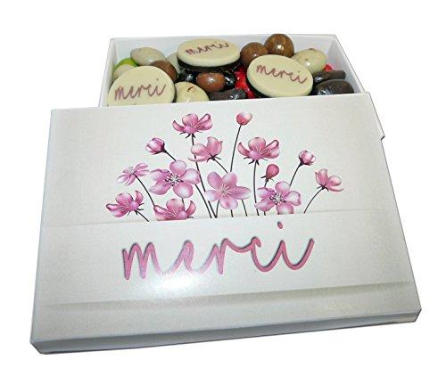 Ballotin de chocolat - COFFRET CADEAU LISEA MM - CHOCOLAT ARTISANAL 165g - COFFRET CADEAU CHOCOLAT (Merci remerciements fleurs roses)