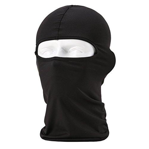 SUNLAND Lycra Fabrics Ski Face Mask Motorcycle Cycling Bike Bandana Hiking Skateboard Balaclava (Black)