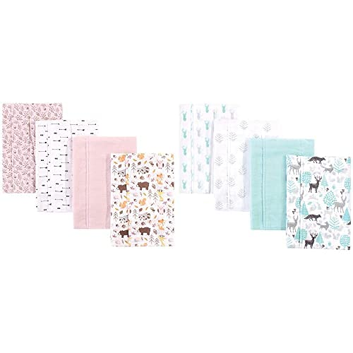 Hudson A surprise price is realized Baby Girl Cotton Flannel Lino Max 41% OFF 8-Pack Burp Pinecone Cloth