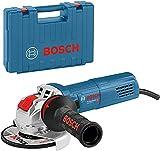 Bosch Professional GWX 9-115 S - Amoladora angular (900W, 2800-11000rpm, X-LOCK, Ø disco 115mm, velocidad variable, en maletín)