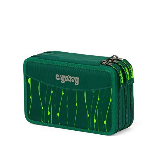 ergobag Federmäppchen - befüllt, Kleingeldfach, Stundenplan - RambazamBär - Grün