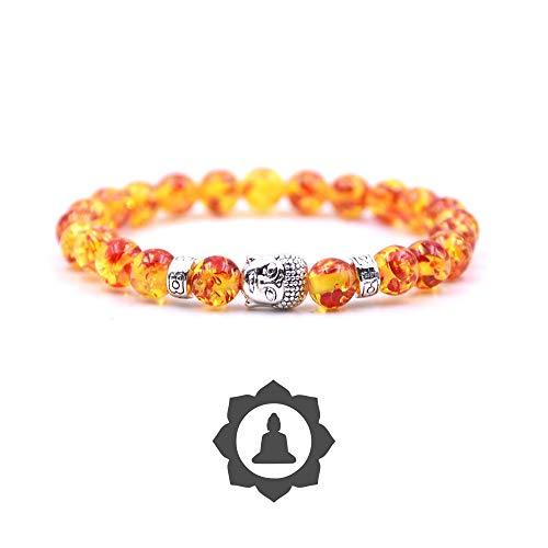 crintiff - Buddhist Bead Bracelet with Tiger Eye - Chakra boudhist Bracelet Bangle for Women and Men, 8mm Beads