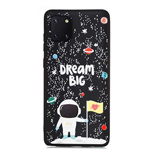 ChoosEU Compatible avec Coque Samsung Galaxy Note 10 Lite/Samsung Galaxy A81 Silicone Souple Noir Motif pour Filles Femmes Homme, Etui Soft Étui Ultra Fine Antichoc Housse Mince Case Protection - B