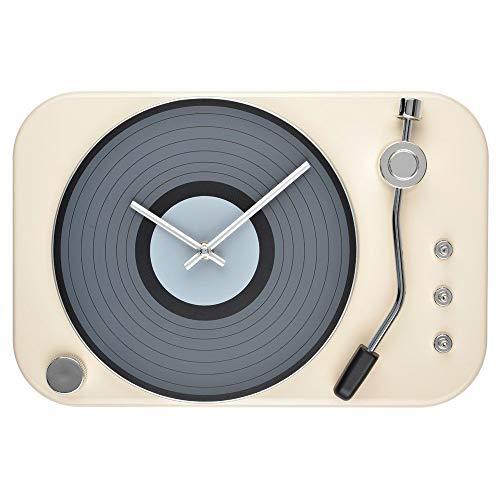 Le Studio Plattenspieler-Uhr, elfenbeinfarben